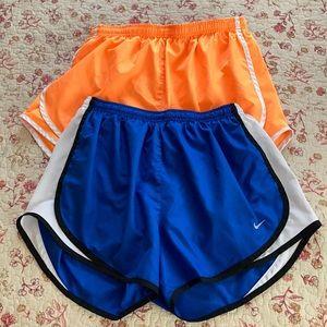 2 PAIR Nike Running shorts